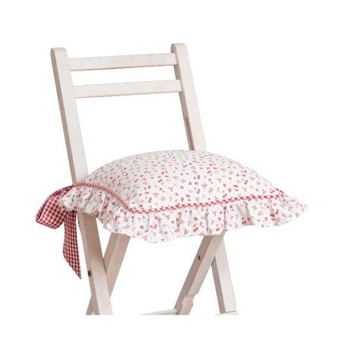 acheter galette de chaise strawberry garden clayre et eef longfosse chez les meubles du chalet. Black Bedroom Furniture Sets. Home Design Ideas