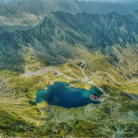 blue lake by Pârlojan Monica - Landscapes Mountains & Hills ( hills, mountain, blue, lake, landscape,  )