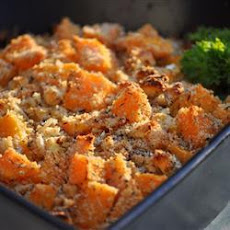 Butternut Squash And Blue Cheese Bake