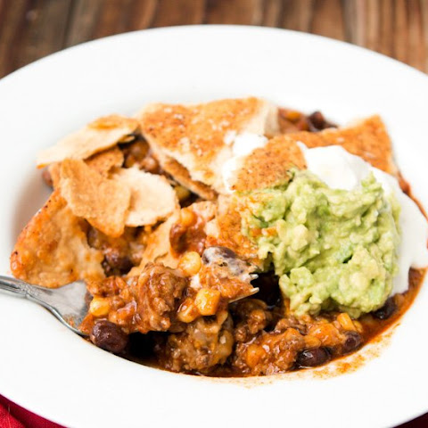 smoky beef chili with tortilla chip crust recipes dishmaps smoky ...