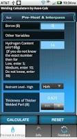 Screenshot of Welding Calculators