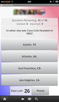 Screenshot of US History Quiz