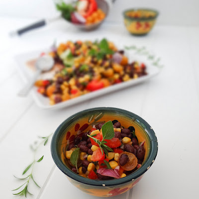 Herbed Cuban Black Bean Salad