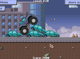 Screenshot of Cop truck rider - racing game