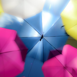 Umbrellas by Pedro Galvao - Abstract Light Painting