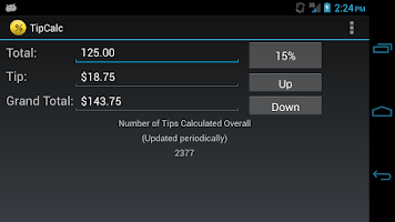 Screenshot of TipCalc