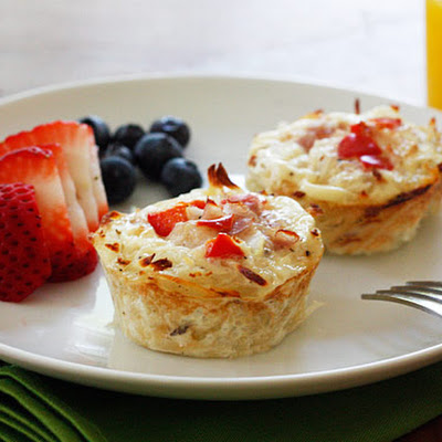 Hash Brown Egg White Nests