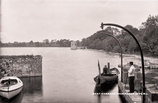 Boat harbour, Rockingham, Boyle, Co. Roscommon, Tunnels were built so that the staff would move between the boat harbour and the house unseen.  (L CAB 7584).