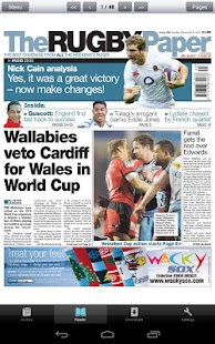 The Rugby Paper, Irish Edition - screenshot