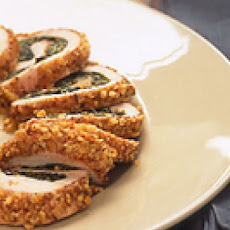 Walnut-Crusted Chicken with Spinach Stuffing