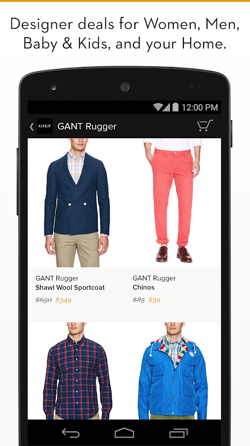 Gilt - Shop Designer Sales Screenshot 1