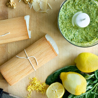 Cedar Wrapped Halibut with Citrus Pesto