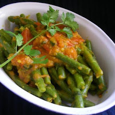 Long Beans With Tomatoes