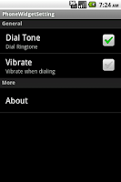 Screenshot of MCG PhoneWidget