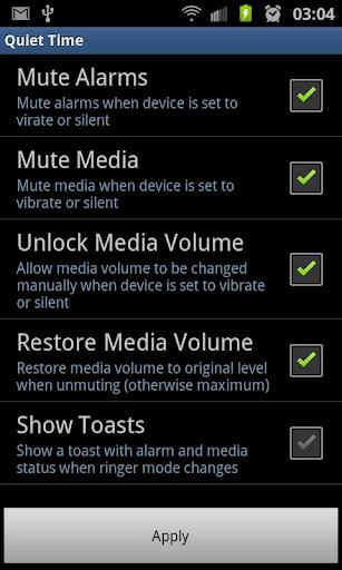 Mute Alarms