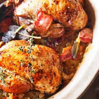 Pot-roast Partridge With Herbed Spelt