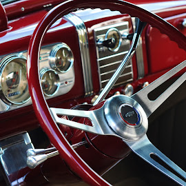 Red Chevy by Joan Kerns - Transportation Automobiles