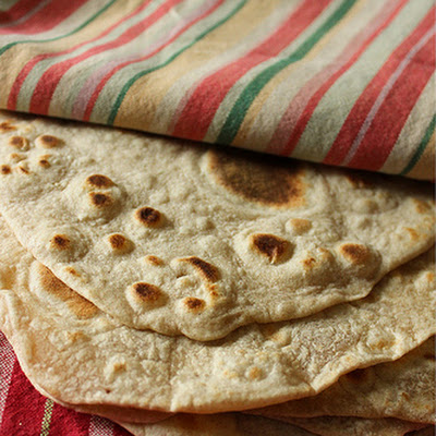 Flour Tortillas made with Butter (Peter Reinhart's ratio)