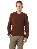 Original Penguin LAMBSWOOL SWEATER WITH SUEDE ELBOW PATCHES