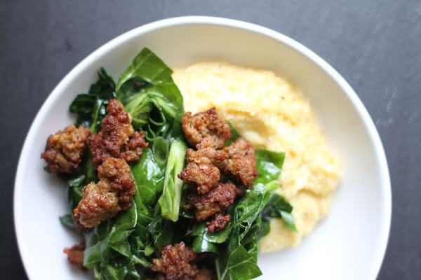 Cheese grits and sausage -- need we say more?