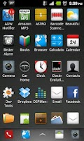 Screenshot of Shadow Dock ADW Theme