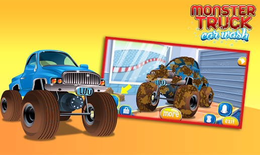 monster truck car wash and spa - screenshot