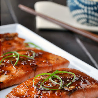 Salmon with Honey, Ginger and Chili Sauce