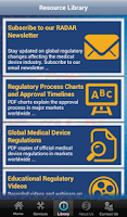 Screenshot of Medical Device Regulatory