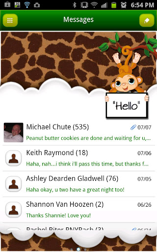 GO SMS THEME MonkeyGiraffeSMS