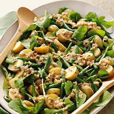 Arugula, Potato, and Green Bean Salad with Creamy Walnut Dressing