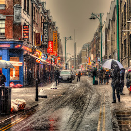 Colors of winter by Piotr Owczarzak - City,  Street & Park  Street Scenes ( shoreditch, uk, winter, hdr, london, street,  )