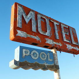 Forgotten Motel by Becky McGuire - Artistic Objects Signs ( 50's, old, mcguire, vintage, retro, sign, motel, history, tvlgoddess, pool, drive, arizona, route 66, becky,  )