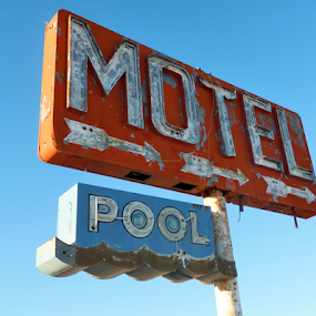 Motel This Way by Becky McGuire - Artistic Objects Signs ( 50's, old, mcguire, vintage,  )