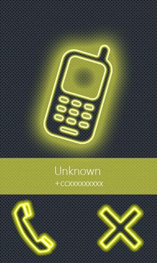 BIG caller ID Theme NeonYllw
