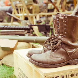 Boots by Alan Rossiter - Artistic Objects Clothing & Accessories ( ireland, re-enactment, wexford, war, boots )