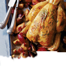 Roast Chicken With Autumn Fruits And Quinoa