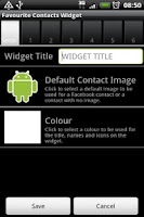 Screenshot of Favourite Contacts Widget