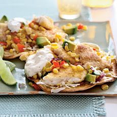 Tilapia Tostadas with Roasted Corn Relish