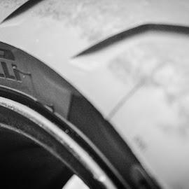 Pirelli tires by Tim Mcnally - Transportation Motorcycles ( #motorcycle #racing, #pirelli #tires #blackandwhite )