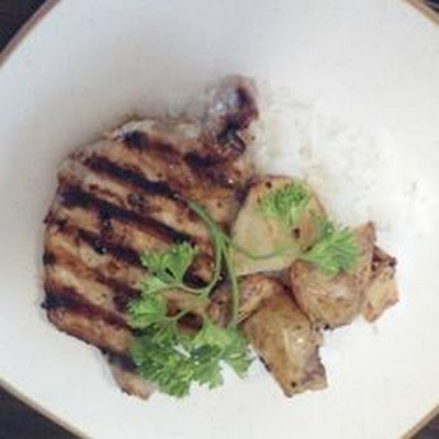 Garlic Pork Chops with Black Mushrooms