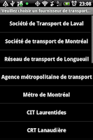Screenshot of Transport Montreal