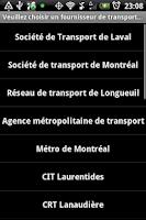 Screenshot of Transport Montreal