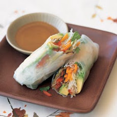 Summer Vegetable Rolls with Rice Noodles