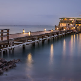 Rod and Reel Pier by Wendy Oster - Novices Only Landscapes ( piers, florida, sunset, landscapes )