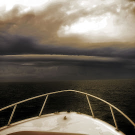 Storm Brewing by Stan Lupo - Landscapes Weather ( clouds, boating, martha's vineyard, offshore storm, offshore hazard, outdoor photography, hdr, weather, storm clouds, storm,  )