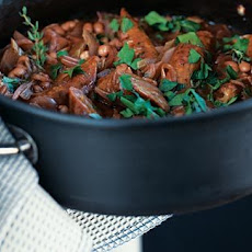 Sausage, Haricot Bean And Red Wine Casserole
