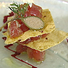 Napoleon of Tuna Tartare