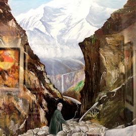 Deep there in kashmir by Himanshu Gupta - Painting All Painting