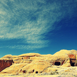 Caves by Simona David - Landscapes Caves & Formations ( hdri, sky, hdr, jordan, formations, caves, cloudscape, rocks, petra,  )