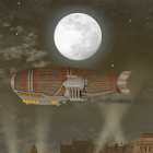 Steampunk Blimp City LWP icon